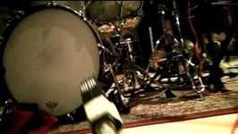 Em estudio, gravando o segundo disco dos Slingshots