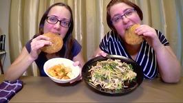 Korean Curry Buns - Shimeji Mushrooms And Kimchi  Gay Family Mukbang - Eating Show