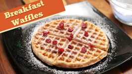 Eggless Breakfast Wholewheat Waffles  Easy Breakfast  Snack Recipe  Divine Taste With Anushruti