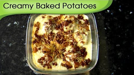 Baked Potato In Creamy Sauce - A Recipe By Ruchi Bharani - Vegetarian HD