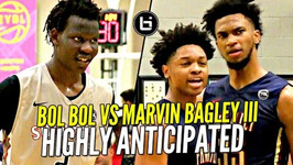 Marvin Bagley iii vs Bol Bol Battle At Nike Eybl - Future Nba Pros Much Anticipated Match-Up
