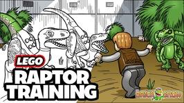 LEGO Jurassic World Raptor Training Time Lapse ART