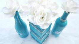 Dollar Tree DIY Wedding Centerpiece  Tiffany Blue Bridal Shower