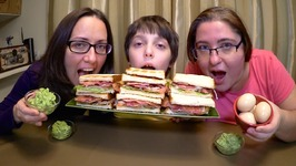 BLT Sandwiches And Guacamole  Gay Family Mukbang - Eating Show