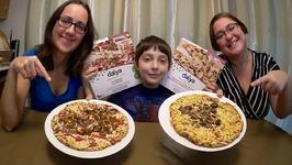 Non Vegans Try Vegan Pizza  Gay Family Mukbang - Eating Show