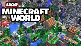 LEGO Minecraft World with Light-Up LAVA - WATERFALL