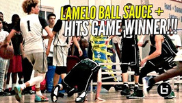 Lamelo Ball Extra Saucy And Hits Game Winner Ws Lonzo And Liangelo Watching