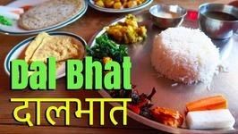 Nepal Food - Eating Dal Bhat in Kathmandu - Nepalese Thali Set)