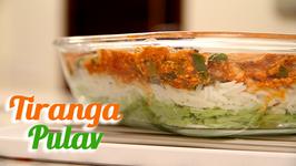 Tiranga Pulav - Vegetarian Tricolor Rice - Recipe by Ruchi Bharani