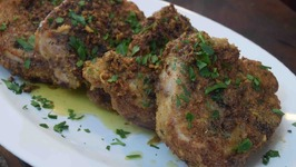 Garlic Parmesan Cheese Encrusted Pork Chops