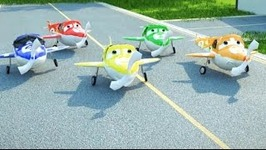 5 Little Airplanes Counting Song for Children - Sing Along