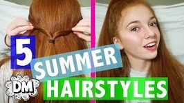 5 EASY Hairstyles For Summer 2017