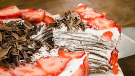 Crepe Cake  Easy Eggless Chocolate Cake Without Oven in Fry Pan