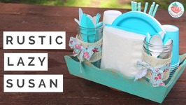 How to Make a DIY Lazy Susan and Turntable - Summer Craft for Your Outdoor Picnic