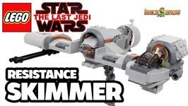 LEGO The Last Jedi Resistance Skimmer Set Review - MOC