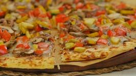 Summer Veggie Pizza with Cauliflower Crust