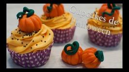Cupcakes De Halloween - Como Hacer Calabazas De Fondant  Cupcakes Para Halloween