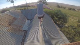 STUCK on TOP OF ABANDONED HOUSE