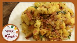 Bread Upma  Recipe From Leftover Bread  Quick Breakfast by Archana in Marathi