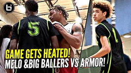 Lamelo Ball Arrives Late And Still Flirts W Triple Double - Big Ballers Heated Game Vs Armor Elite