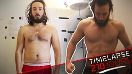 Évolution Corps 210 Jours - Transformation Timelapse