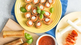 Grilled Pizza Roll Ups - Pizza Night