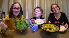 Favorite Vegetarian Meal Edamame, Rice, Indian Vegetables And Tofu  Gay Family Mukbang