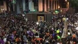 Demonstrators Chant for President's Resignation in Rio de Janeiro