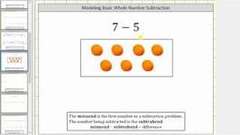 Subtract Whole Numbers using Models - Basic