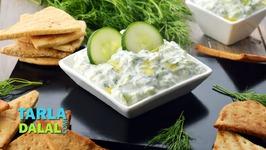 Tzatziki Dip - Lebanese Hung Curd And Cucumber Dip