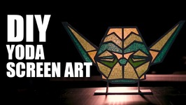 DIY Yoda Screen Art  Star Wars Special  Room Decor Ideas