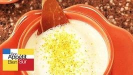Cappucino d'asperges des Landes au jambon sec