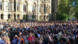 Chants of 'Manchester' Ring Out at Town Hall Vigil for Concert Bombing Victims