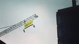 Greenpeace Sends Message to Trump Near US Embassy in Brussels
