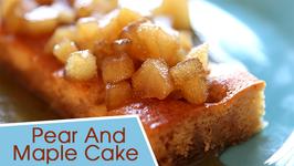 Pear Cake Recipe  Pear And Maple Cake  Beat Batter Bake With Priyanka
