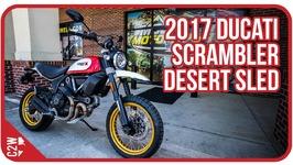 2017 Ducati Scrambler Desert Sled - First Ride