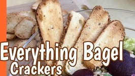 How I Make Quick Everything Bagel Crackers