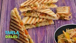 Vegetable Noodle Grilled Sandwich