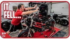 I should have secured that better - Wrecked Bike Rebuild - Ep 12 - Ducati Monster 1100