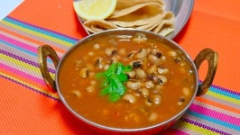 No Oil Curry Making  Black Eyed Peas Curry