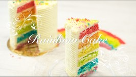Tarta Arcoiris O Rainbow Cake  Tarta Acoiris Paso A Paso