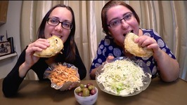 Mushroom Bourekas Carrot And Cabbage Salads  Gay Family Mukbang - Eating Show