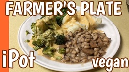 Farmer's Plate Dinner Cooked With 3 Instant Pots