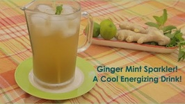 My Ginger Mint Sparkler with Lime Cool and Refreshing Drink!