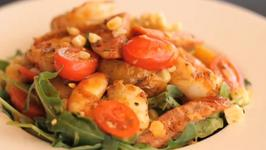 Grilled Prawns and White Corn Summer Salad