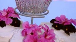 Organic White Chocolate Rosewater Cupcakes
