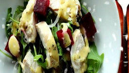 Chicken, Pickled Beet Salad with Horseradish Peppercorn Mayonnaise