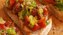 How to make Tomato and Avocado Balsamic Bruschetta