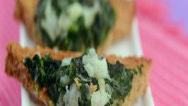 Creamy Spinach Toast (Healthy Breakfast) by Tarla Dalal