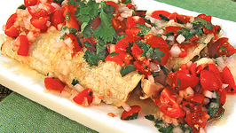 Roasted Eggplant and Chicken Enchiladas and Tomato Salsa